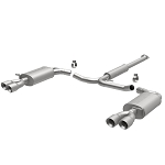 MagnaFlow Dual Split Rear Exit Stainless Cat Back Exhaust